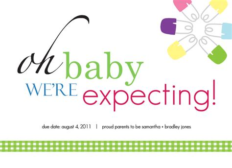 Card Expecting Baby - pregnancy announcement cards oh baby were expecting