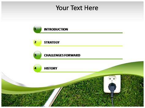 green energy power powerpoint ppt template ppt