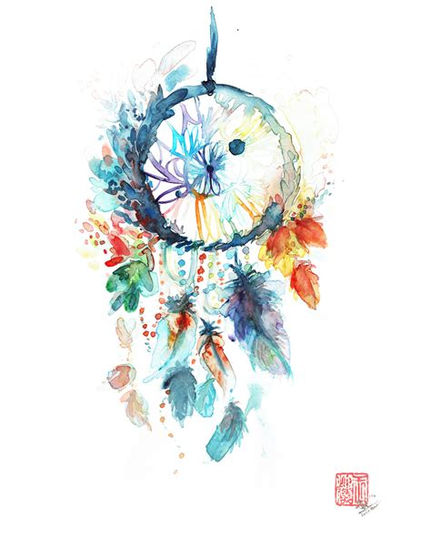dreamcatcher watercolor on cold press 140lbs february