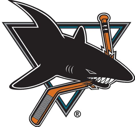 san jose sharks colors hockey logos inspired by shark week puck junk