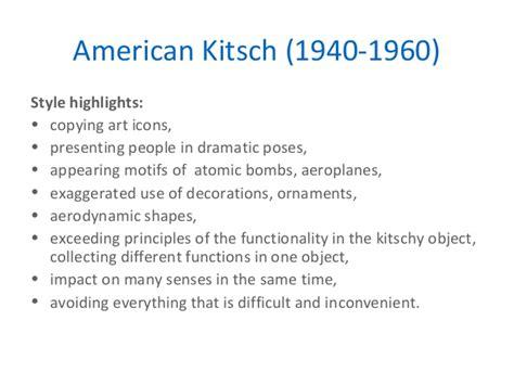 Kitsch Design Definition | key movements in design
