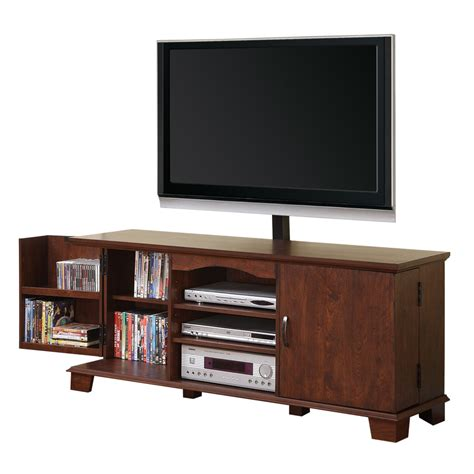 walker edison   brown wood tv stand  mount home