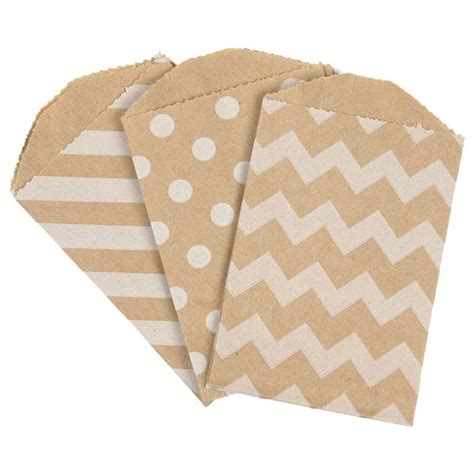 Brown Paper Bag Decoration Ideas Brown Kraft Mini Paper Bags In 3 Designs Pack Of 10 Pipii