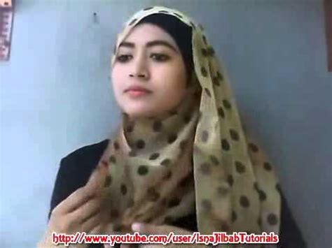 tutorial hijab paris simple natasha farani cara memakai jilbab pashmina polkadot simple easy
