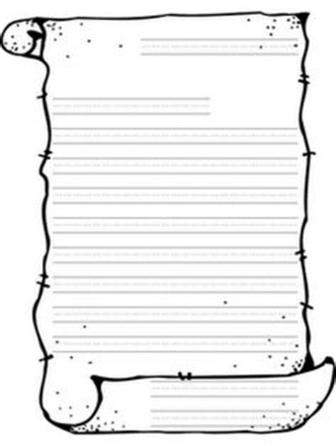 scroll writing paper printable blank scroll template pinteres