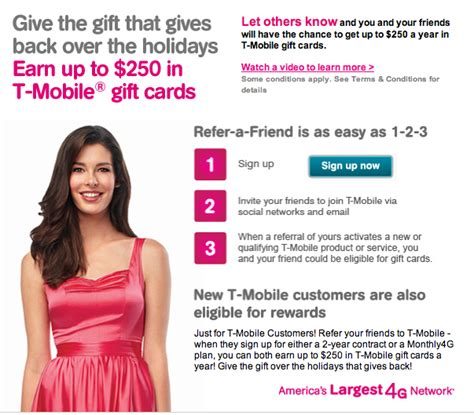 Tmobile Gift Cards - t mobile reminds us of their quot refer a friend quot program earn up to 250 in t mobile