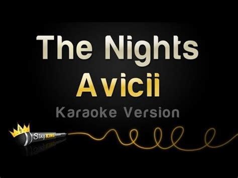 Avicii Karaoke | avicii the nights karaoke version youtube