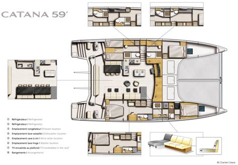 catamaran floor plans the new catana 59 sailing catamaran layout yacht charter superyacht news