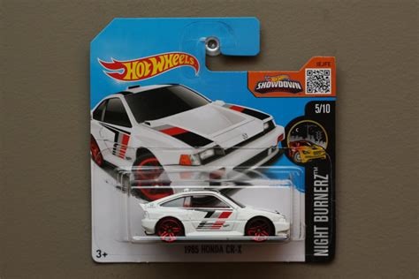 Hotwheels 2016 85 Honda Cr X White wheels 2016 nightburnerz 85 honda cr x white