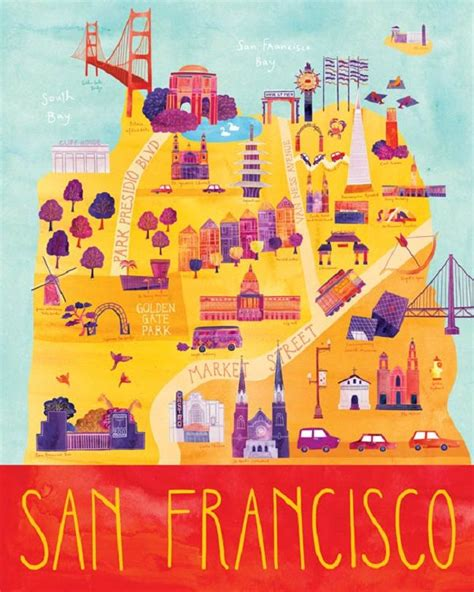 san francisco map to print 32 best images about illustrated maps on