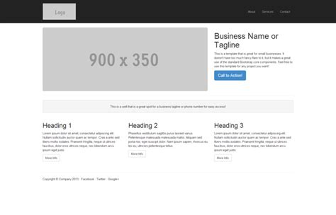 Start Bootstrap Width Pics Template For Bootstrap 3 start bootstrap small business template for bootstrap 3
