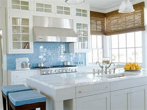 Kitchen With Glass Backsplash by Glass Tile Kitchen Backsplash