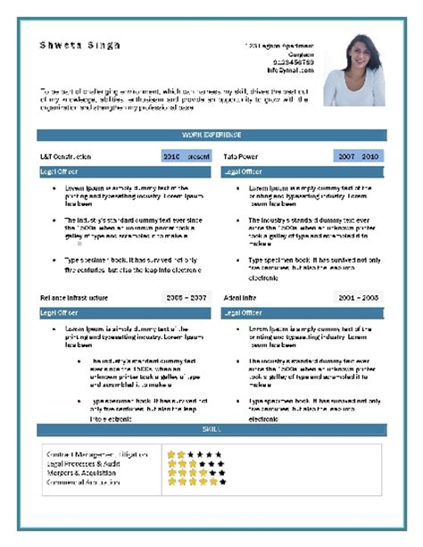 Software Tester Resume Sle For Freshers by Free Resume Formats Sle Resume Format Resume