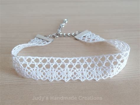 Black Pearl Lace Chocker 8211 thick lace white choker white lace choker lace chokerwhite