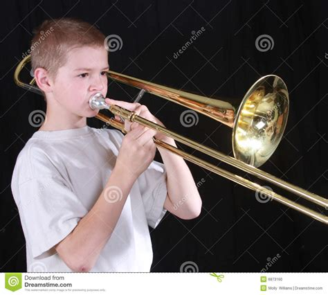 Architecture Lessons trombone player 6 stock photo image 6873160