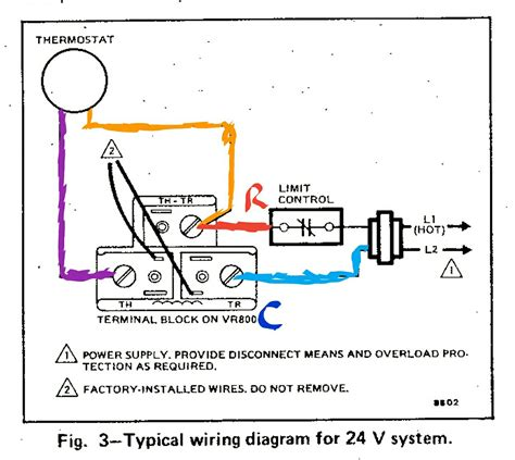 typical thermostat wiring diagram typical thermostat