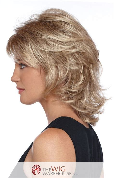 wigs medium length feathered hairstyles 2015 wigs medium length feathered hairstyles 2015 medium