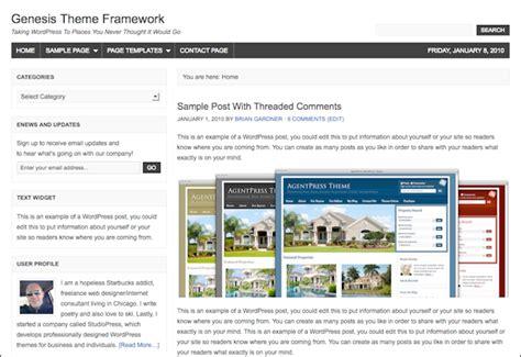 wordpress genesis layout studiopress genesis theme framework templates dobeweb