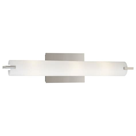 George Kovacs Lighting Fixtures George Kovacs Bath Chrome Three Light Bath Fixture With Etched Opal Glass On Sale