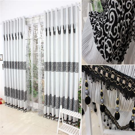 Black And Grey Bedroom Curtains Modern Continental Curtain Simple Modern Black Gray Jacquard Chenille Velvet Fabric Living Room