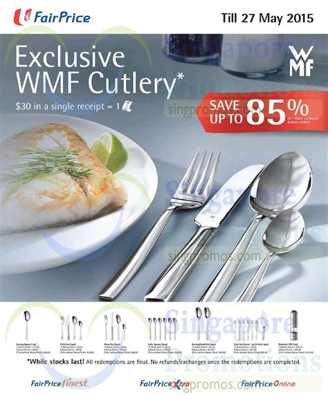 Home Decoratives Online by Ntuc Fairprice Spend Amp Redeem Wmf Cutlery 5 Mar 27 May 2015