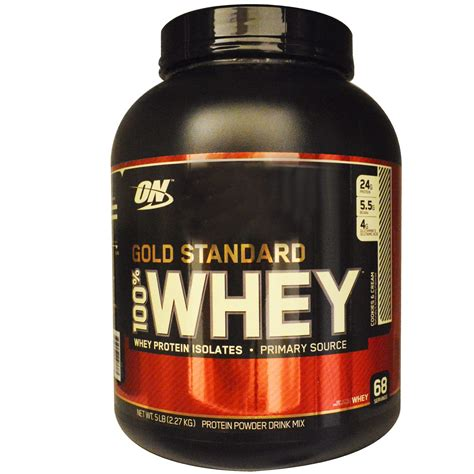Terbatas Whey Gold Standard 5 Lbs Optimum Nutrition Gf677 optimum nutrition gold standard 100 whey cookies 5 lbs 2 27 kg iherb