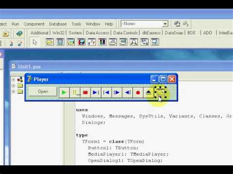 tutorial delphi pascal delphi 7 mediaplayer easy path youtube