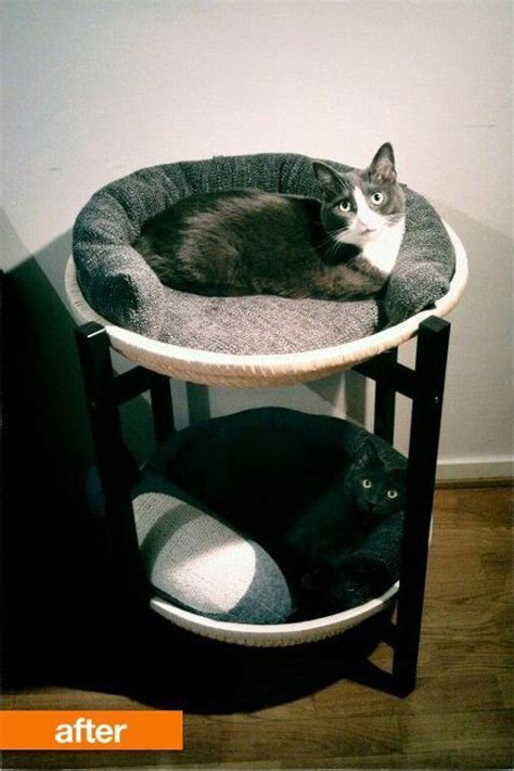 ikea cat bed before after ikea tray table to double decker cat bed