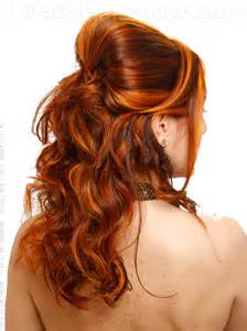 orange brown hair color orange highlights on auburn hair highlights