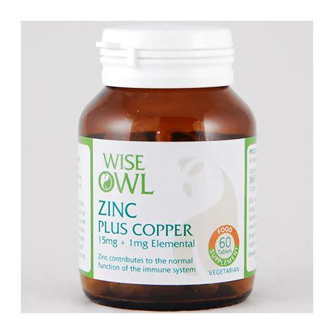 supplement zinc and copper wise owl zinc copper biogurt 60 tablets feelunique