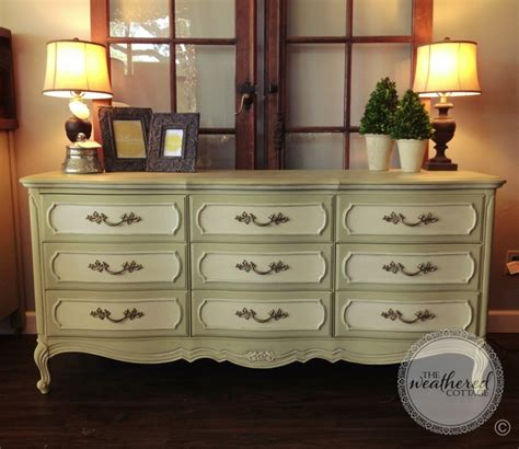 chalk paint versailles vintage dresser painted in versailles and white chalk