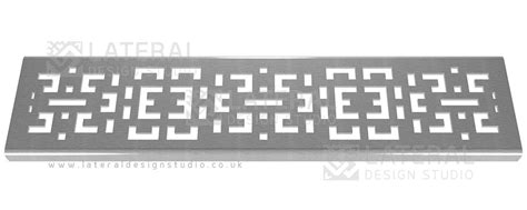 decorative furniture veneer crossword aquascape drainage channel cover stainless steel grate