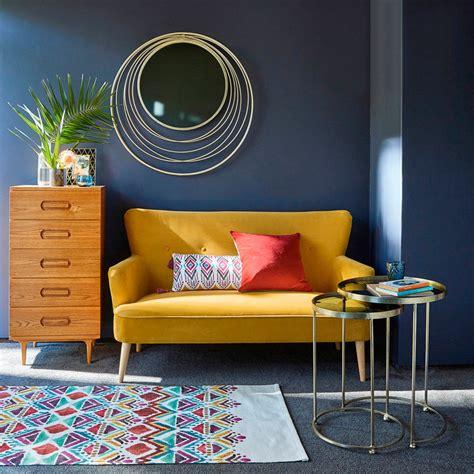 mustard yellow velvet sofa velvet sofas our pick of best ideal home