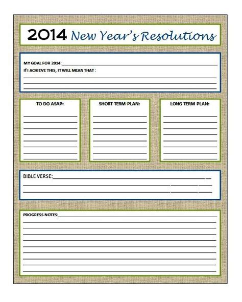 my new year s resolution strategy sheet the me i want to