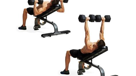 bench press and dumbbell press incline dumbbell bench press men s fitness
