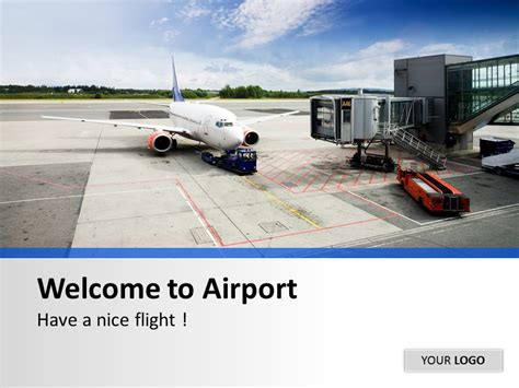 airport flight information powerpoint template