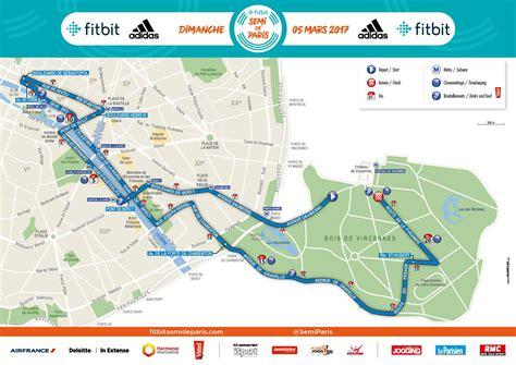 Parcours semi marathon de Paris 2017