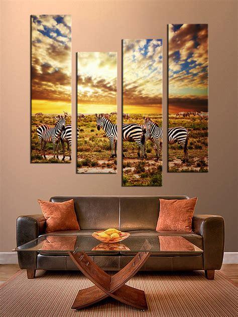 colorful wall decor 4 multi panel colorful wall decor zebra