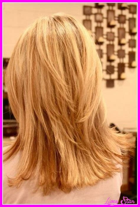 back pics of long layered hair long choppy layered haircuts back view livesstar com