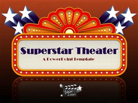 Superstar Theater A Powerpoint Template From Presentermedia Com Theatre Template