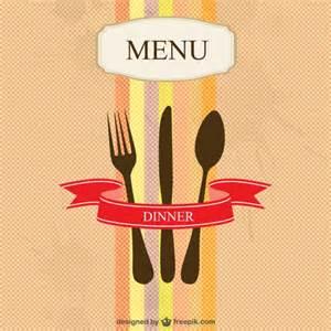 restaurant menu vector simple design vector free