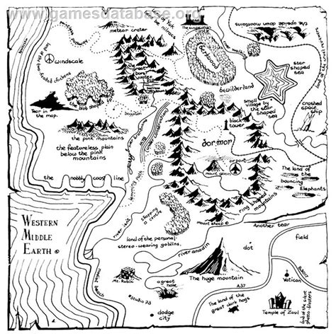 libro bored and brilliant how brilliant spoofs of the classic fantasy novel map flavorwire