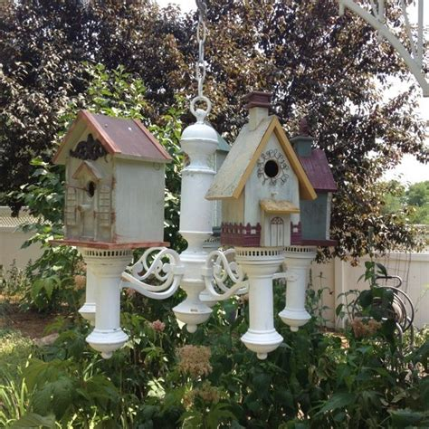 Chandelier For Small House Chandelier With Birdhouses Garden Chandeliers Picmia