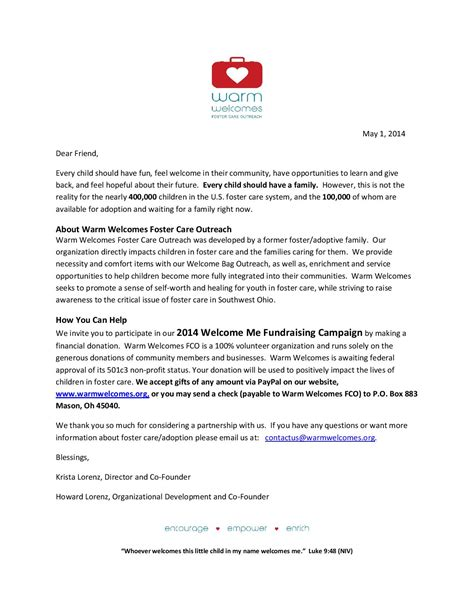 thank you letter to foster national foster care month support warm welcomes take