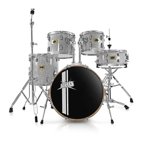 swing drummers whd birch 5 piece swing drum kit silver sparkle at
