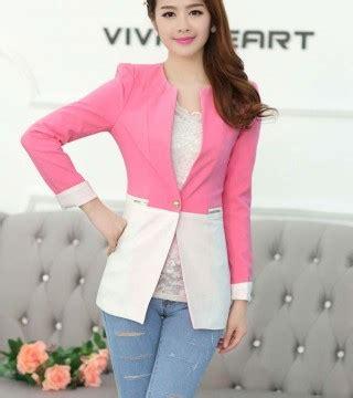 Model Terbaru Murah Kode 5027 Pink Best Seller blazer korea wanita model terbaru 2015 model terbaru jual murah import kerja