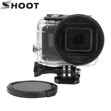 shoot 58mm uv filter for gopro 5 black waterproof with lens cover and adapter gopro