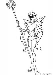 stella cute winx club coloring pages printable