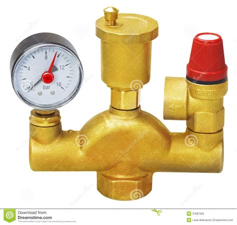 Plumbing Fixture Parts by Plumbing Fixtures And Piping Parts Stock Photography