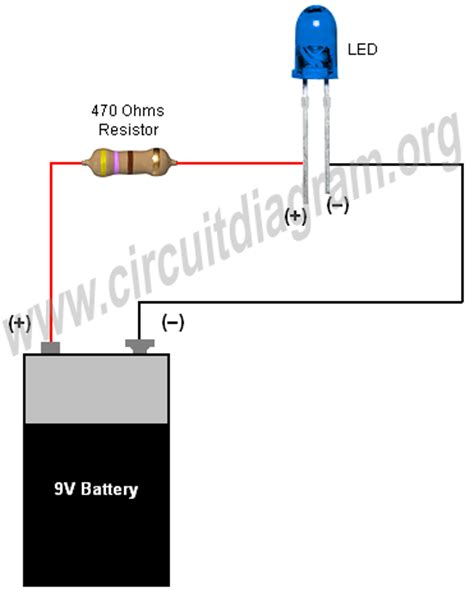 what resistor for 9v led simple basic led circuit circuit diagram